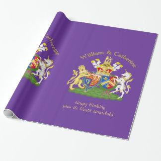 Brasão real de William e de Catherine Papel De Presente