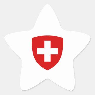 Brasão suíça - lembrança da suiça adesito estrela