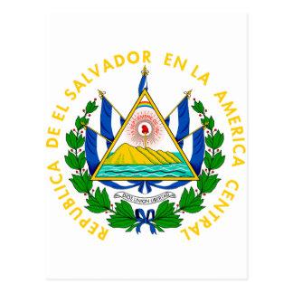 Brasão SV de El Salvador Cartão Postal
