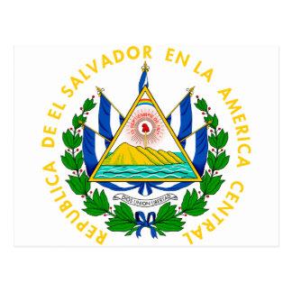 Brasão SV de El Salvador Cartões Postais