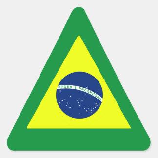 BRASIL ADESIVOS EM FORMA DE TRIÂNGULO