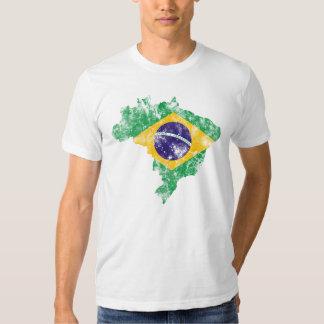 Brasil afligiu a bandeira camisetas