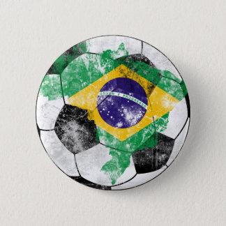 Brasil afligiu o futebol bóton redondo 5.08cm
