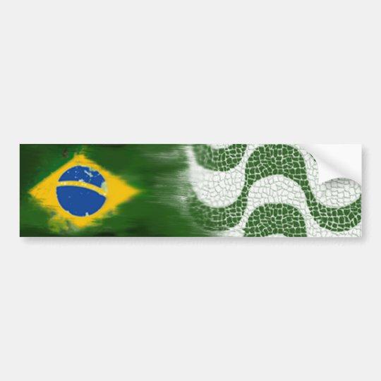 Brasil and the Copacabana sidewalk Adesivo De Para-choque