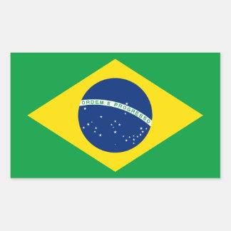 Brasil/bandeira brasileira adesivo retangular