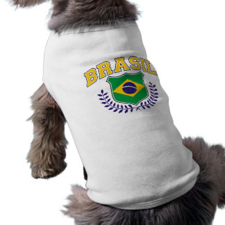 Brasil Camisa Sem Mangas Para Cachorro