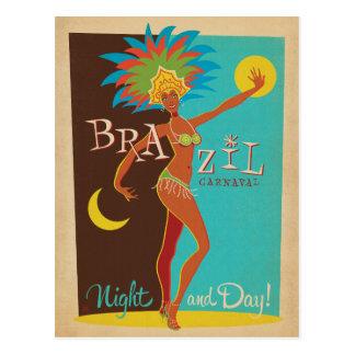 Brasil Carnaval   noite e dia! Cartão Postal