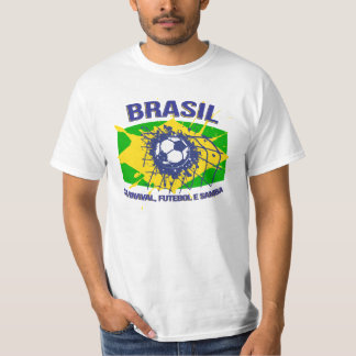 Brasil Carnaval, samba de Futebol e ostenta o Camiseta