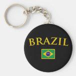 Brasil dourado chaveiros
