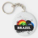 Brasil frutado bonito chaveiros