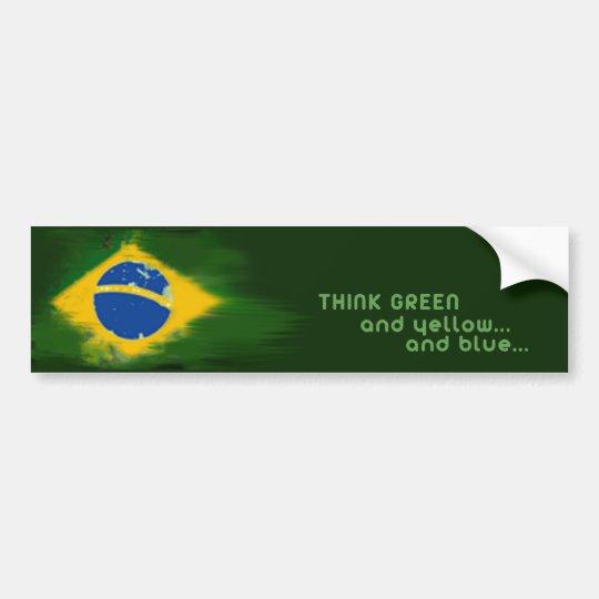 Brasil green and yellow adesivo para carro