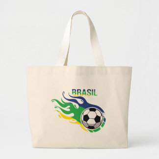 Brasil legal Futebol Sacola Tote Jumbo