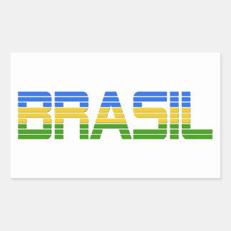 Brasil Products Rectangular Pegatina