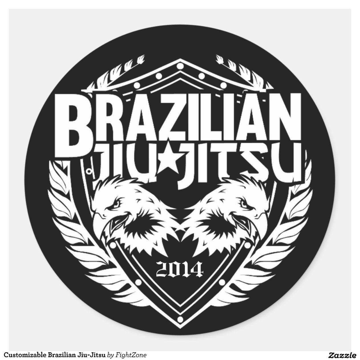 Artesanato Russo Em Sp ~ Brasileiro customizável Jiu Jitsu Adesivo Zazzle