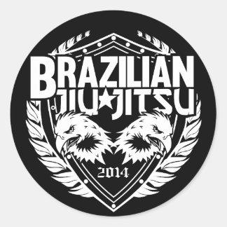 Brasileiro customizável Jiu-Jitsu Adesivo Em Formato Redondo