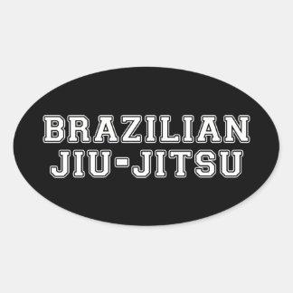 Brasileiro Jiu Jitsu Adesivo Oval