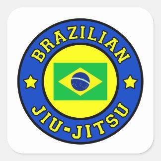 Brasileiro Jiu-Jitsu Adesivo Quadrado