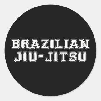 Brasileiro Jiu Jitsu Adesivo Redondo