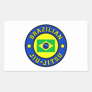 Brasileiro Jiu-Jitsu Adesivo Retangular