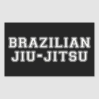 Brasileiro Jiu Jitsu Adesivo Retangular