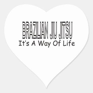 Brasileiro Jiu Jitsu é um modo de vida Adesivo De Coração