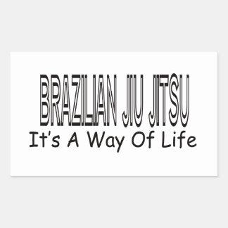 Brasileiro Jiu Jitsu é um modo de vida Adesivo Retangular