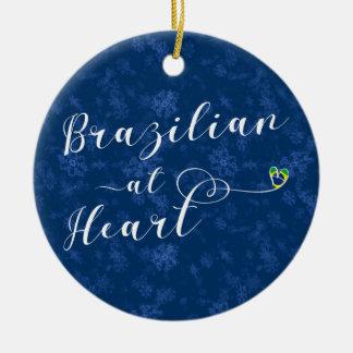 Brasileiro no ornamento da árvore do feriado do