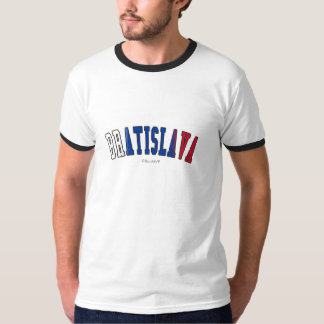 Bratislava em cores da bandeira nacional de camiseta
