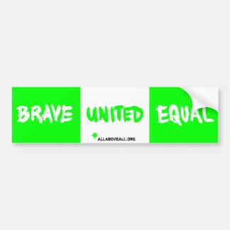 Brave o igual unido - verde adesivo para carro