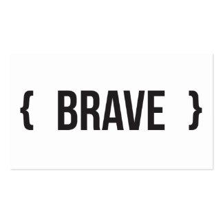 Brave - suportado - preto e branco modelos cartões de visita