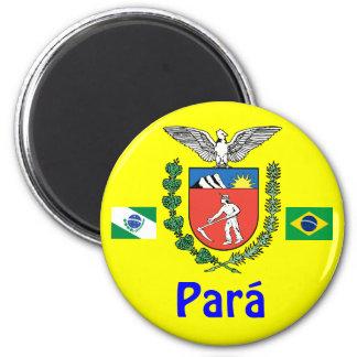 Brazil Para State Shirt Ímã Redondo 5.08cm