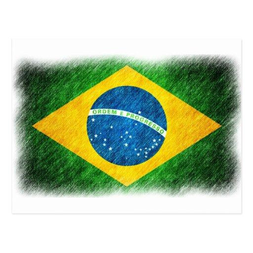 Brazilian_Flag_Pencil_Painting Cartoes Postais