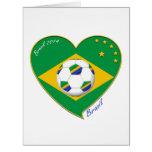 """Brazilian national football team. Fútbol """"BRAZIL"""" Cartão Comemorativo Grande"""