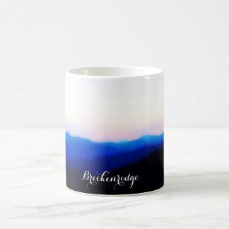 Breckenridge caneca de café do por do sol da