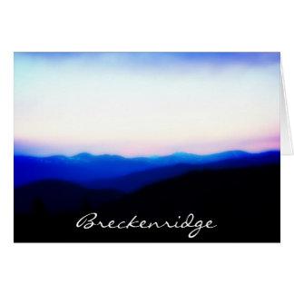 Breckenridge cartão da escala de dez milhas