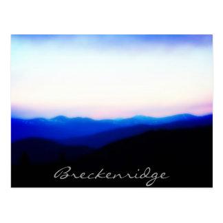 Breckenridge cartão do por do sol da escala de dez