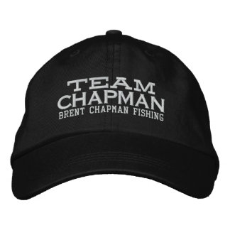 Brent Chapman que pesca o logotipo - equipe Boné