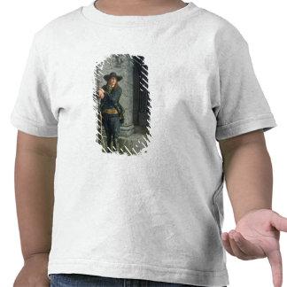 Bretão armado que guarda um patamar tshirt