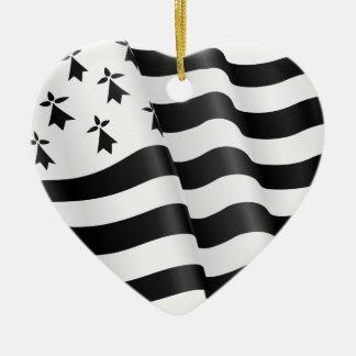 Bretão de Drapeau (bandeira bretão) Ornamento De Cerâmica