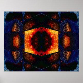 Brickology 1 arte psicadélico da meditação do ab pôsteres