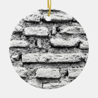 Brickwall rústico ornamento de cerâmica