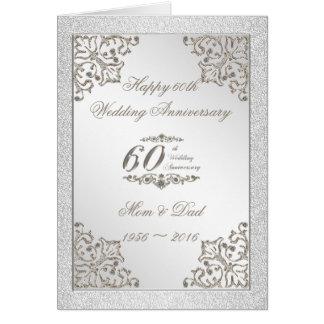 Brilha o 60th cartão do aniversário de casamento