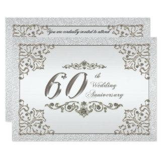 Brilha o 60th cartão do convite do aniversário de