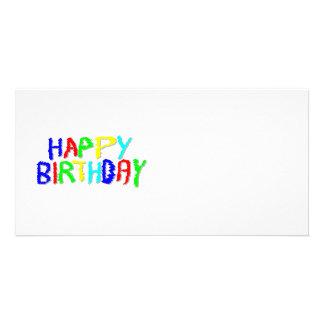 Brilhante e colorido. Feliz aniversario Cartão Com Foto