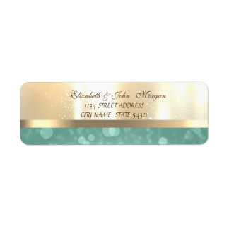 Brilhante glamoroso elegante, etiqueta de endereço