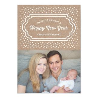 Brilhante & os felizes anos novos do cartão com convite 12.7 x 17.78cm