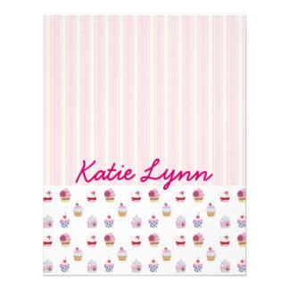 Brilhe cartões de agradecimentos lisos do cupcake convite personalizados
