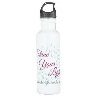 Brilhe sua garrafa de água leve