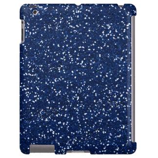 Brilho azul à moda capa para iPad