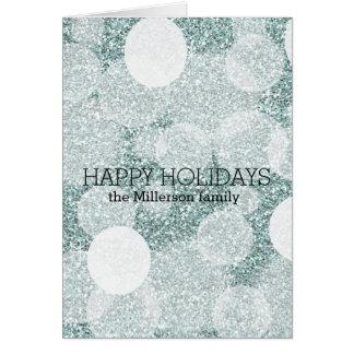 Brilho azul cartão de nota